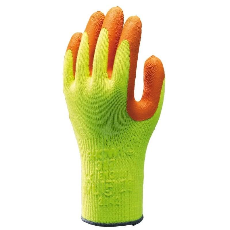 Rękawice-ochronne-fluorescencyjne-powlekane-lateksem - SHOWA-317