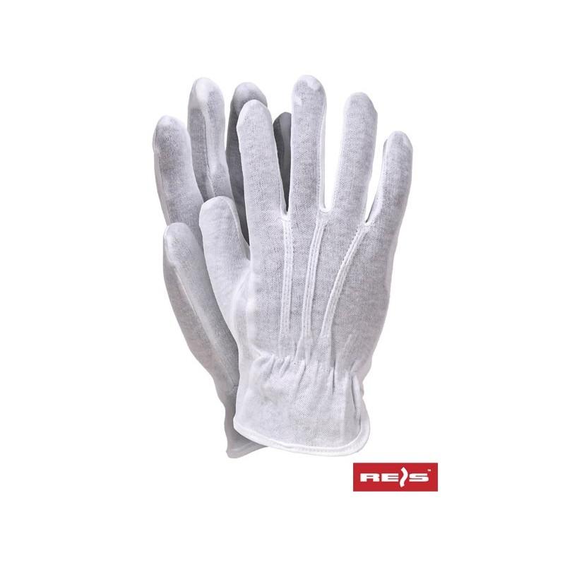 Rękawice-ochronne-bawełniane-białe-typu-frak - RWKBLUX