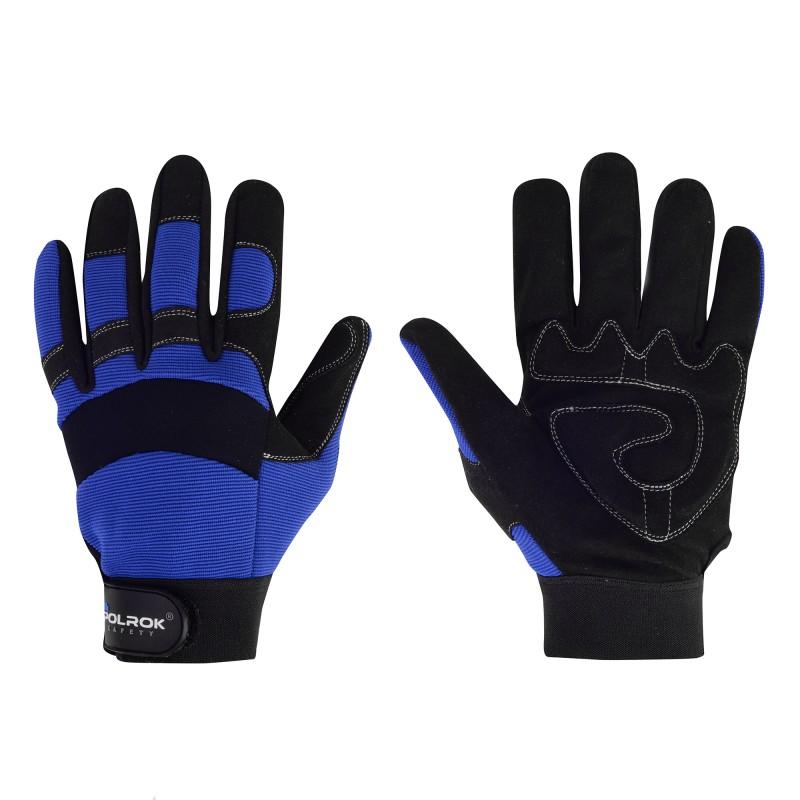 Rękawice-robocze-ochronne-wzmocnione-skórą-syntetyczna - SS-9060