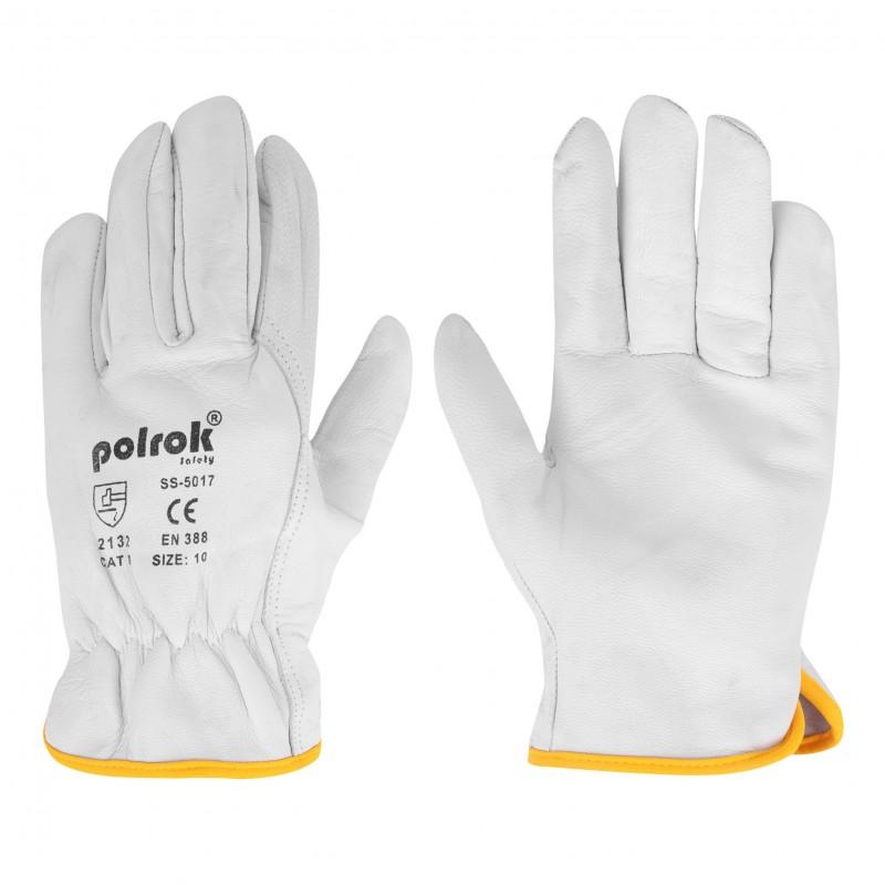Rękawice-ochronne-całoskórzane-kozie - POLROK-SS-5017