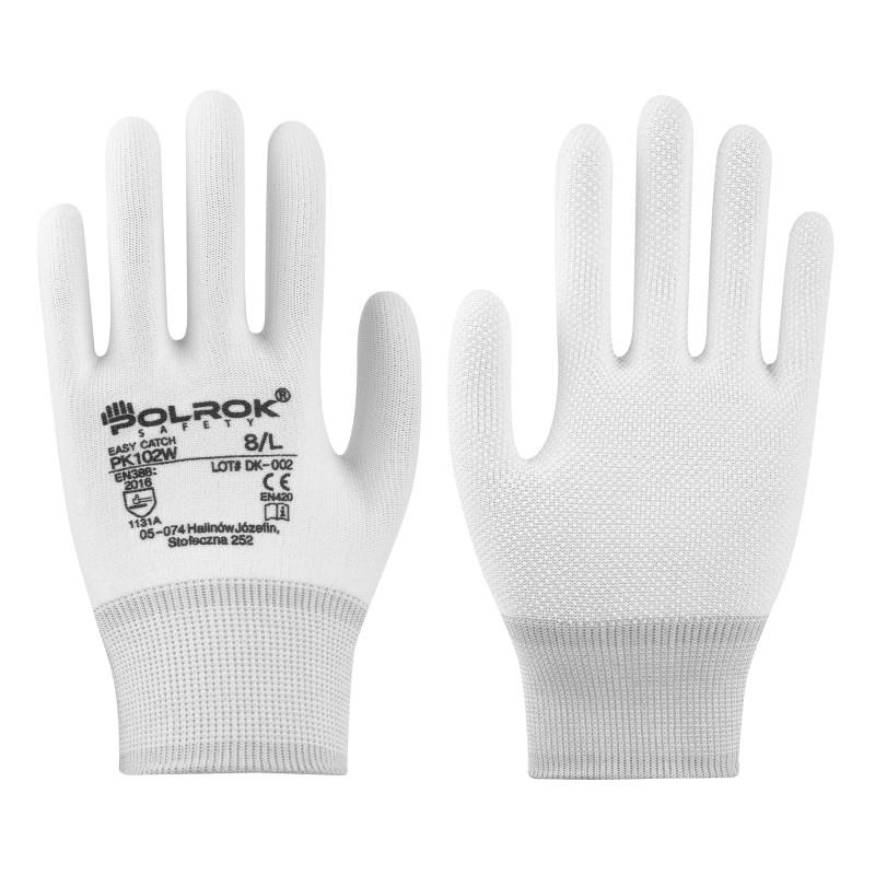 Rękawice-ochronne-nylonowe-dłoń-nakrapiana-pcv - POLROK-PK-102