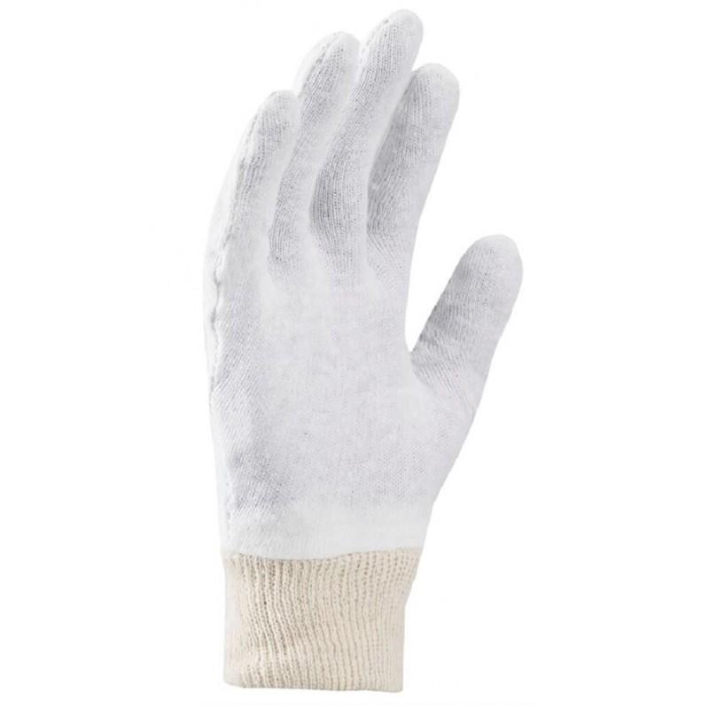 Rękawice-ochronne-bawełniane-białe-ściągacz - ARDON-COREY