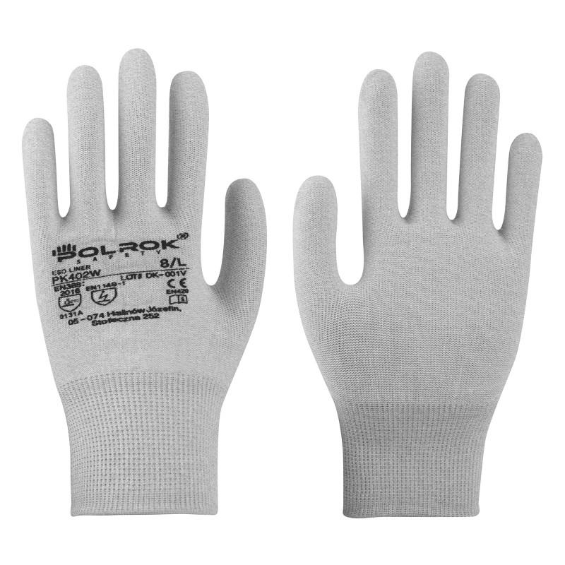 Rękawice-antystatyczne-węglowe-dziane-ESD - POLROK-PK-402