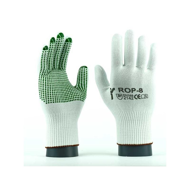 Rękawice-dzianinowe-nylonowe-bezpyłowe - JS-GLOVES-ROP-ROPV