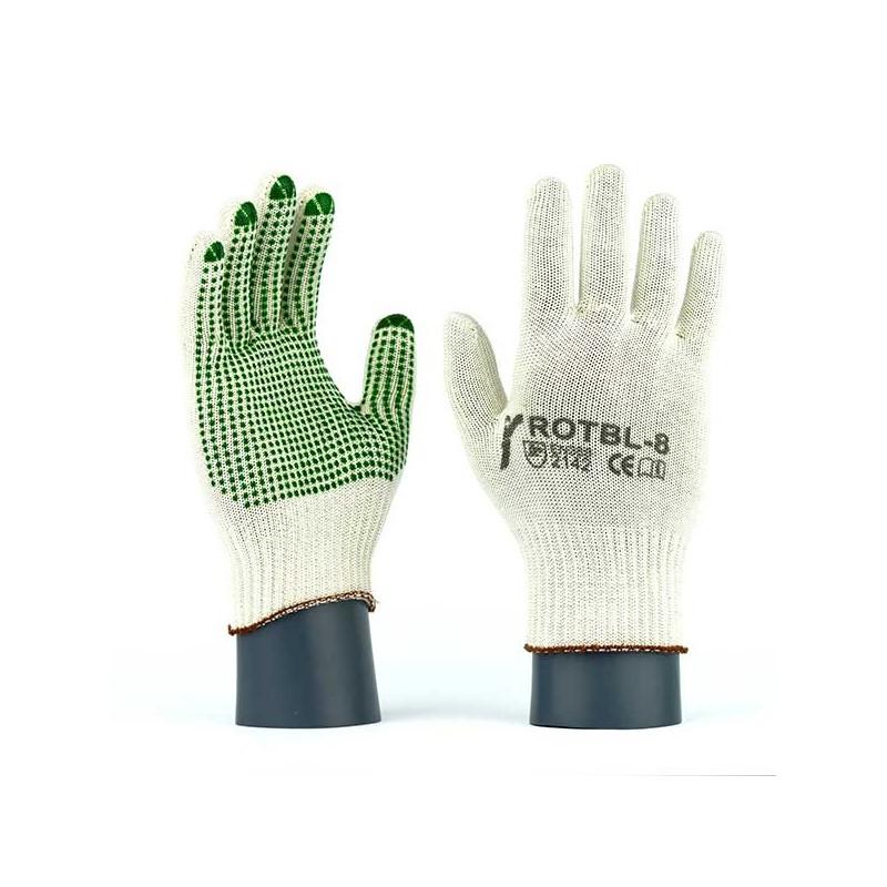 Rękawice-ochronne-dziane-nylonowo-bawełniane - JS-GLOVES-ROTBL-ROTBLV