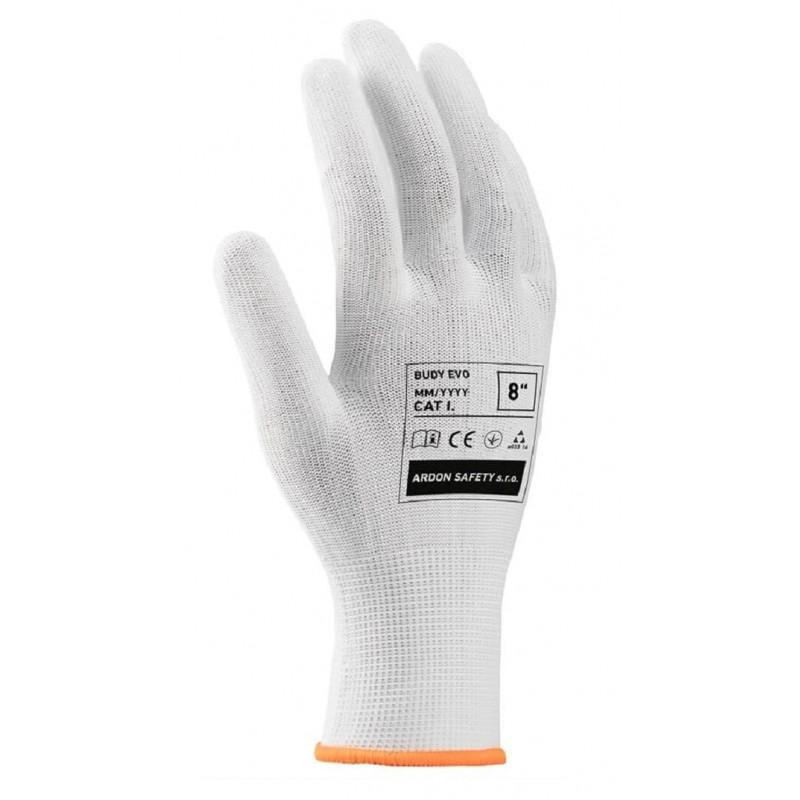 Rękawice-robocze-białe-z-przędzy-bawełnianej-z-dodatkiem-nylonu-mikronakropienie-PCV - ARDON-BUDY-EVO
