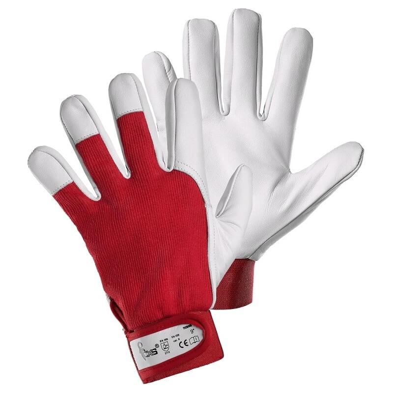 Rękawice-ochronne-dzianinowe-wzmocnione-skórą-licową-kozią - CXS-TECHNIK
