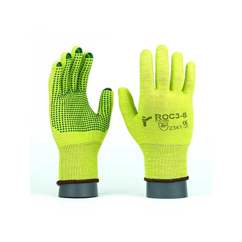 Rękawice-ochronne-dziane-antyprzecięciowe - JS-GLOVES-ROC3-ROC3V
