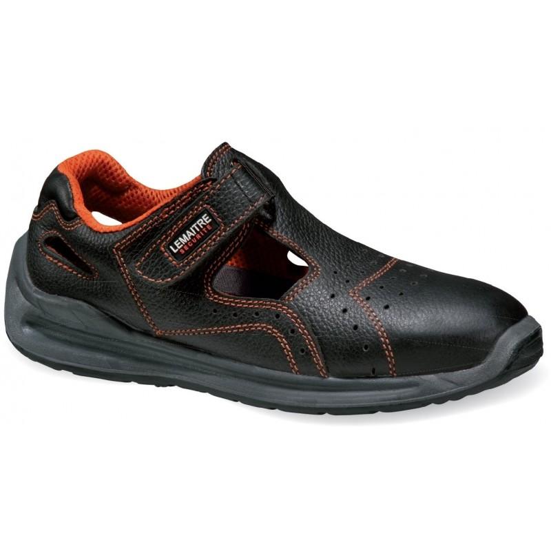 Sandały-bezpieczne-skórzane - SPRINTER-BLACK-S1