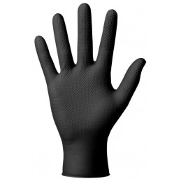 Rękawice-ochronne-nitrylowe-bezpudrowe - POWERGRIP-BLACK