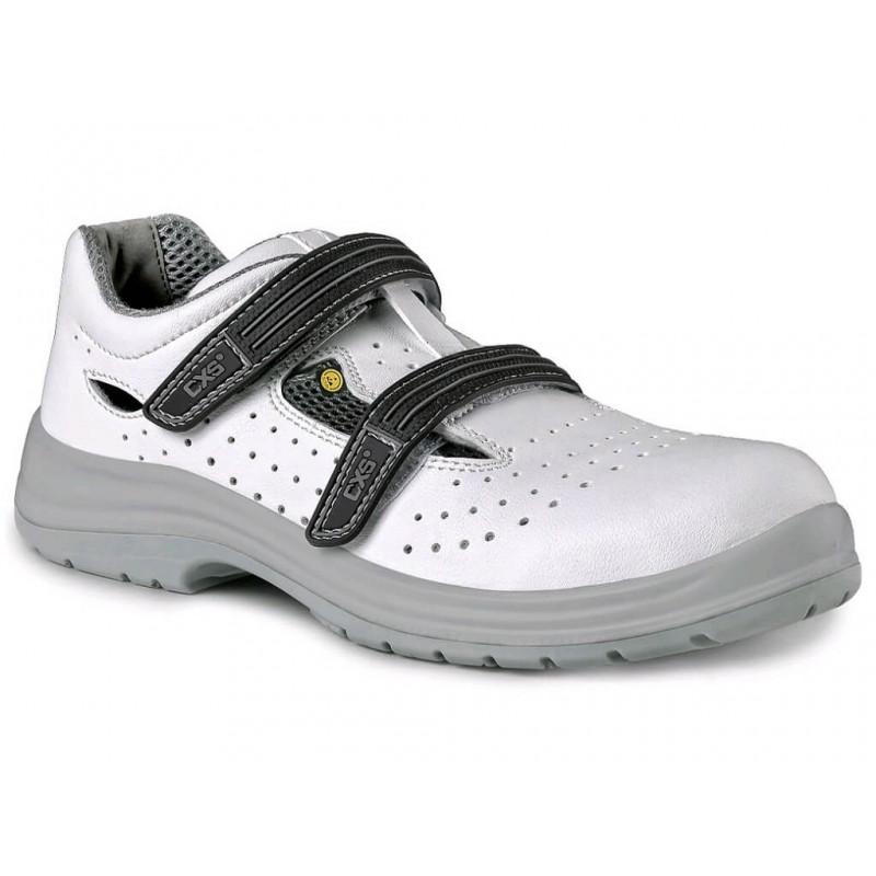 Sandały-robocze-białe-mikrofibra - CXS-WHITE-PINE-O1-ESD