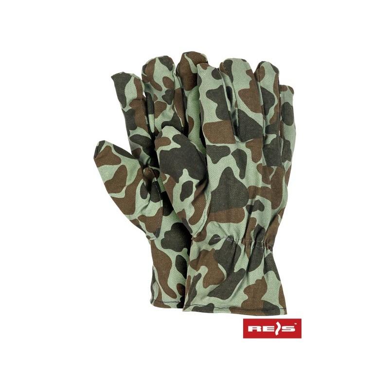 Rękawice-robocze-drelichowe-100%-bawełna - RD-MORO
