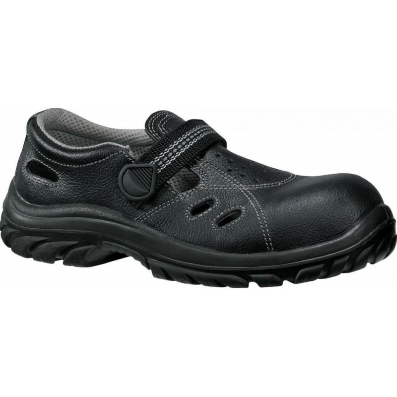 Sandały-bezpieczne-skórzane - Lemaitre-Safetix-Sandfox-Black-S1