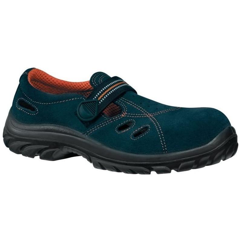 Sandały-bezpieczne-welurowe - Lemaitre-Safetix-Sandfox-Blue-S1-SRC