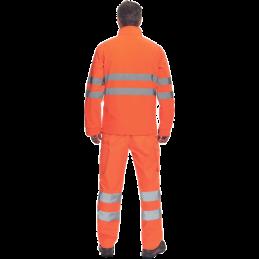 Kurtka-ostrzegawcza-softshell-tył - MURCIA-HV
