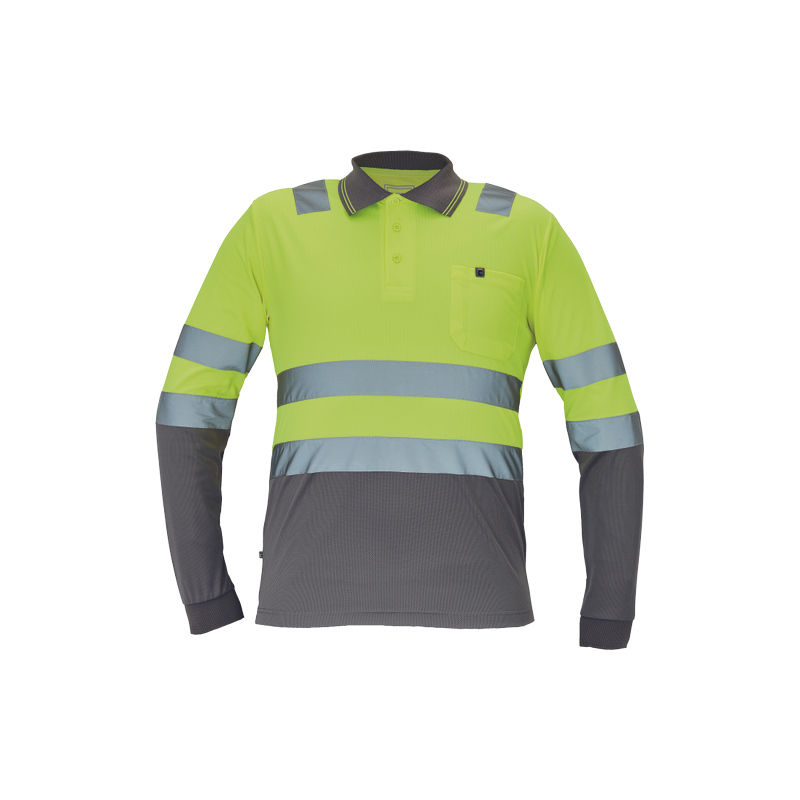Ostrzegawcza-koszulka-polo-długi-rękaw - LEON-HV