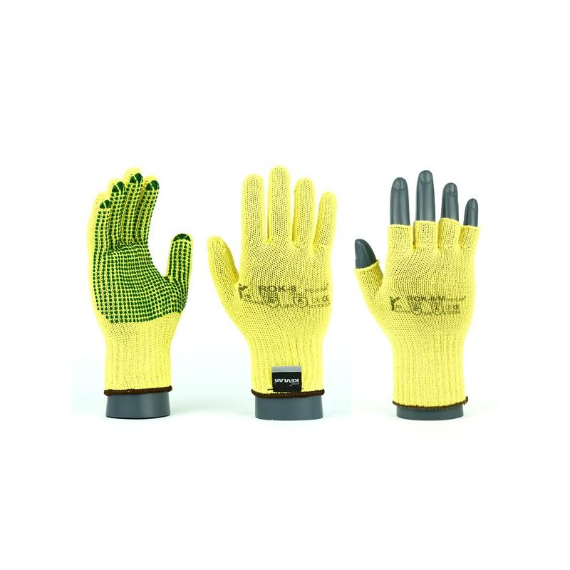 Rękawice-ochronne-kevlarowe-termoodporne-przeciwprzecięciowe-nakropione-PVC - JS-GLOVES-ROKV