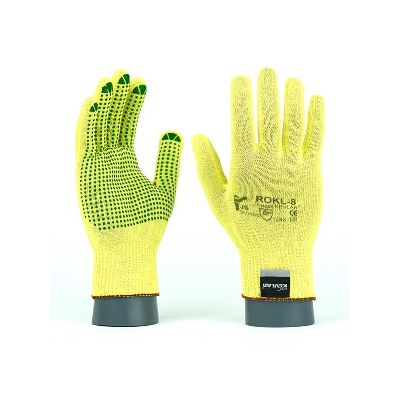 Rękawice-ochronne-kevlarowe-nakrapiane-PVC-  JS-GLOVES-ROKLV
